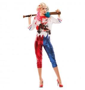Costume Harley Quinn Arkham donna per una serata ad Halloween