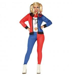 Costume Harley Quinn Villain donna per una serata ad Halloween