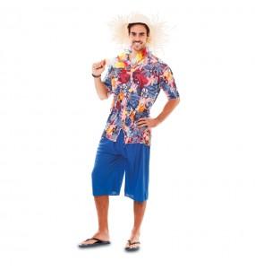 Travestimento turista hawaiano adulti per una serata in maschera
