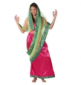 Travestimento Sari Indù donna per divertirsi e fare festa