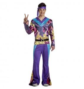 Costume da Hippie viola per uomo
