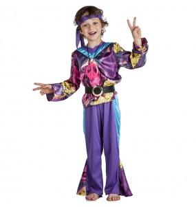 Costume da Hippie viola per bambino