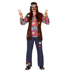 Travestimento Hippie di Woodstock adulti per una serata in maschera