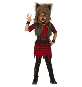 Costume da Lupo mannaro selvaggio per bambina