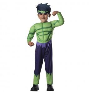 Travestimento Hulk Marvel neonato che più li piace