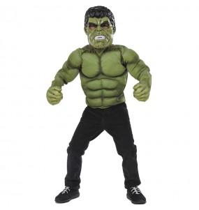 Costume da Hulk petto muscoloso per bambino