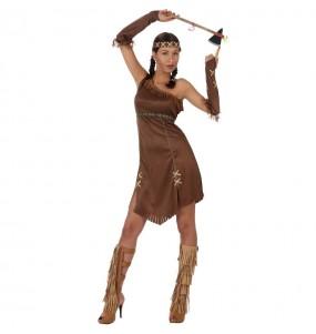 Costume da Indiana Coraggiosa Marrone per donna