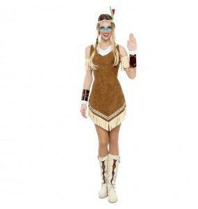Costume da Indiana Mohicana per donna