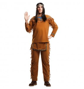 Travestimento Indiano Americano adulti per una serata in maschera