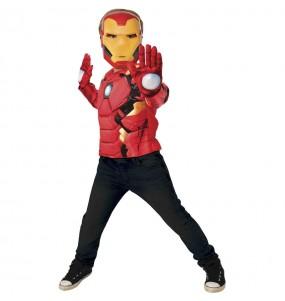 Costume da Iron Man petto muscoloso per bambino
