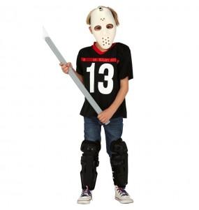 Travestimento Jason Voorhees Venerdì 13 bambini per una festa ad Halloween