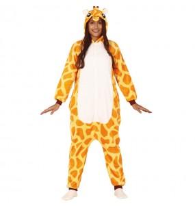Travestimento Giapponese Giraffa africana Kigurumi adulti per una serata in maschera
