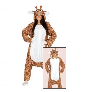Travestimento Giapponese Giraffa Kigurumi adulti per una serata in maschera