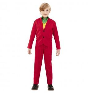Costume da Joker rosso per bambino
