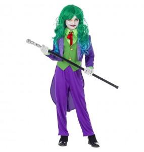 Vestito Joker Villain bambine per una festa ad Halloween