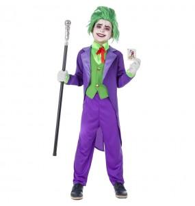Travestimento Joker Villain bambini per una festa ad Halloween