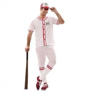 Costume da Giocatore di baseball retrò per uomo