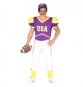 Travestimento Giocatore di football americano adulti per una serata in maschera