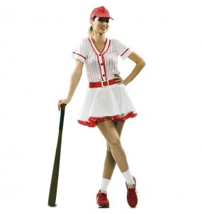 Costume da Giocatora di baseball retrò per donna