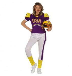 Costume da Giocatrice di football per donna