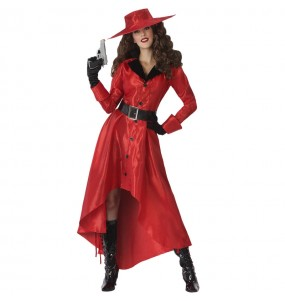 Costume da ladra Carmen Sandiego per donna