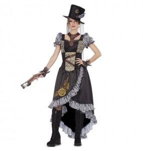 Travestimento Lady Steampunk donna per divertirsi e fare festa