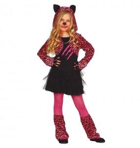 Costume da Leopardo rosa per bambina