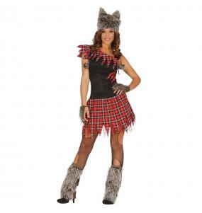 Costume Lupo scozzese donna per una serata ad Halloween