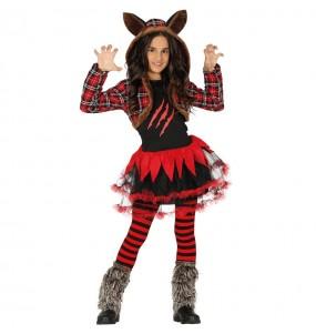 Vestito Lupo mannaro bambine tutù per una festa ad Halloween