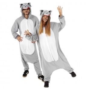 Costume da Lupo Cattivo Kigurumi per adulto