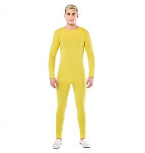 Costume da Body giallo spandex per uomo