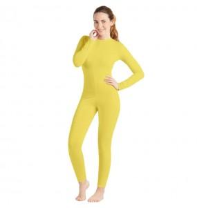 Costume da Body giallo spandex per donna