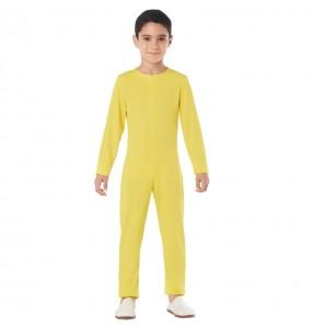 Costume da Body giallo spandex per bambini