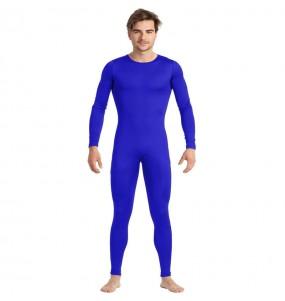 Costume da Body blu spandex per uomo