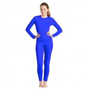 Costume da Body blu spandex per donna