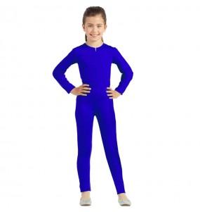 Costume da Body blu spandex per bambina