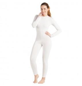 Costume da Body bianco spandex per donna
