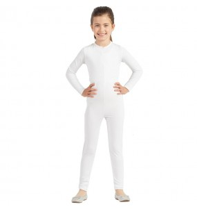 Costume da Body bianco spandex per bambina