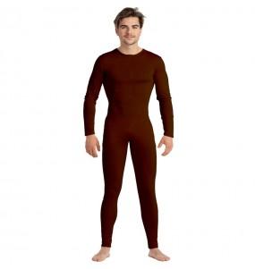 Costume da Body marrone spandex per uomo