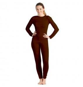 Costume da Body marrone spandex per donna