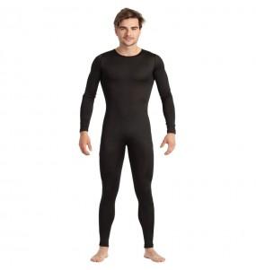 Costume da Body nero spandex per uomo
