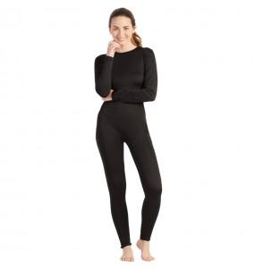 Costume da Body nero spandex per donna