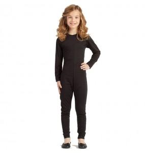Costume da Body nero spandex per bambina