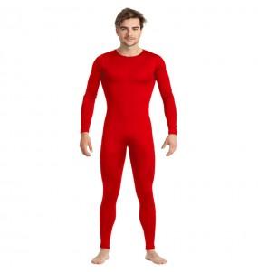 Costume da Body rosso spandex per uomo