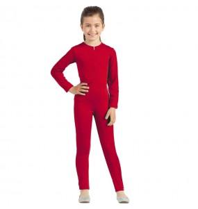 Costume da Body rosso spandex per bambina
