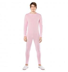 Costume da Body rosa spandex per uomo