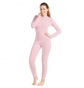 Costume da Body rosa spandex per donna