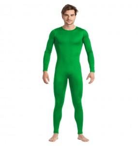 Costume da Body verde spandex per uomo
