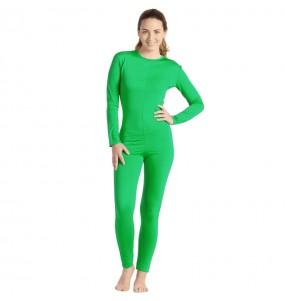 Costume da Body verde spandex per donna