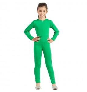 Costume da Body verde spandex per bambina
